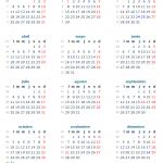 Calendario 2016 con los días festivos de México