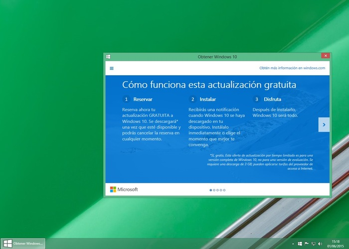 Obtener windows 10 en los sistemas operativos windows 7 y windows 8 1