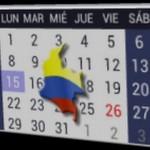 Calendario 2016 de dias festivos o feriados en Colombia