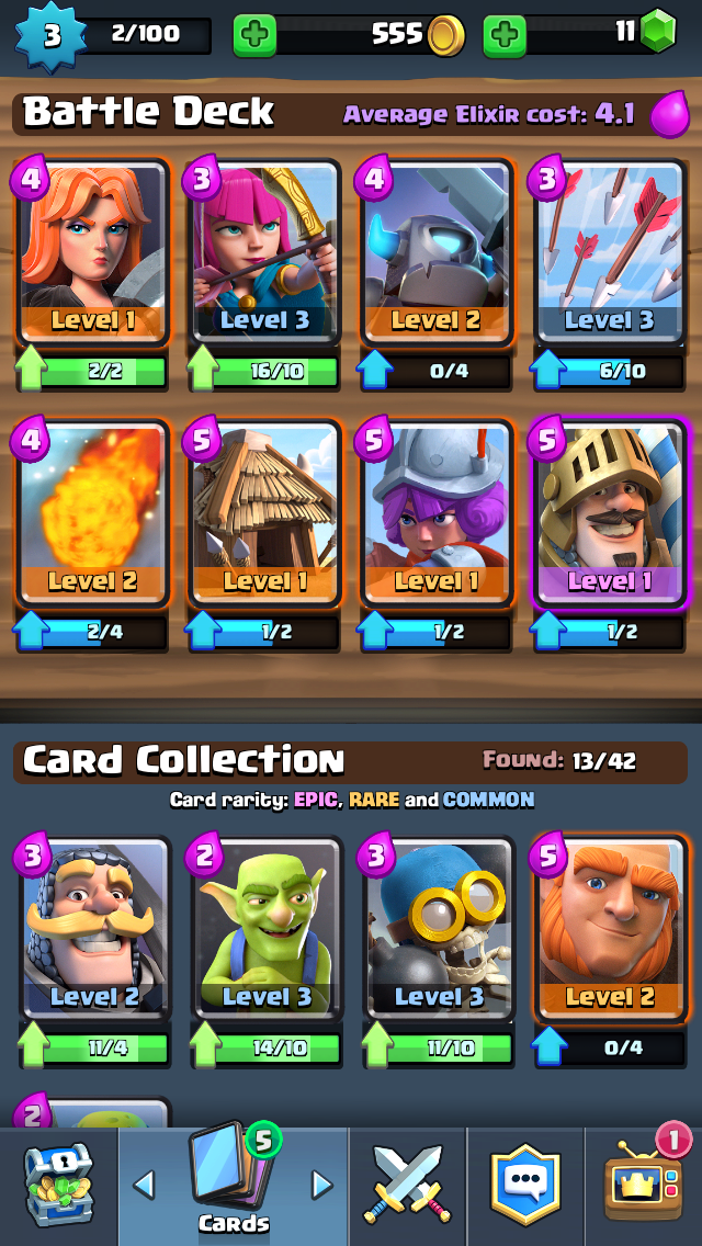 Clash-Royale cartas