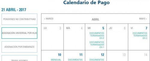Calendario de pago Anses 2017, consultar.