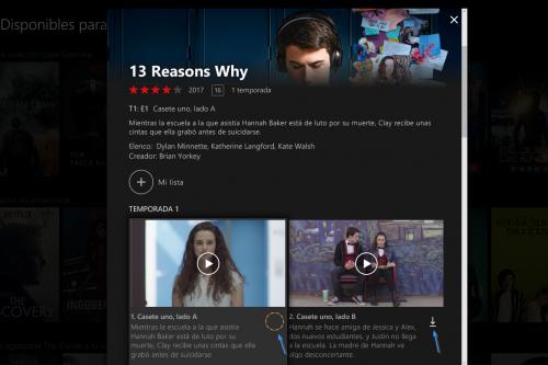 Descargar películas de Netflix ya es posible en Windows 10-