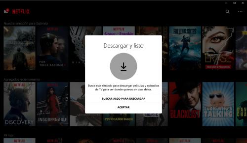 Descargar películas de Netflix ya es posible en Windows 10
