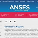 Obtener certificación Negativa de ANSES