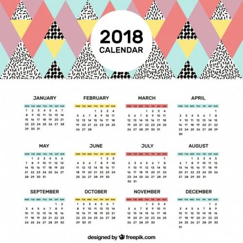 Calendario Completo.Calendario 2018 Completo Para Imprimir Y Descargar