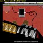 Afinar guitarra y bajo de manera Online