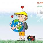 Calendario Mes Octubre 2009
