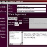 Aplicacion para crear un Curriculum Vitae