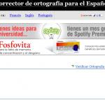 Corrector Ortografico Español On-line