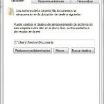 Cambiar ubicacion de la carpeta Mis Documentos en Windows 7