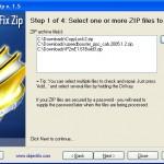 Reparar archivo ZIP