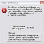 Solucionar nt authority system, la PC se apaga en 1 minuto