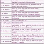 Calendario Escolar de Argentina 2012