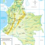 Descargar Mapas físicos y políticos de Colombia para imprimir