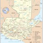 Mapas político y físico de Guatemala para imprimir