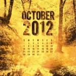 Calendario del Mes Octubre 2012