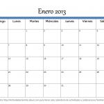 Imprimir calendario 2013 mes a mes