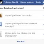 Nueva configuración de privacidad en facebook