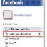 Guia de solicitudes enviadas en Facebook