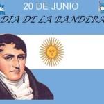 Imágenes de Manuel  Belgrano y de la Bandera para imprimir