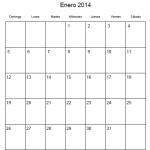 Calendario 2014 mes a mes para imprimir