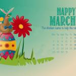 Calendario del mes de Marzo de 2016
