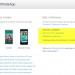 Disponible la aplicación oficial de whatsapp para Windows y Mac OS X