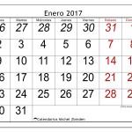 Calendario mes por mes del 2017