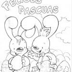 Dibujos de pascuas para colorear